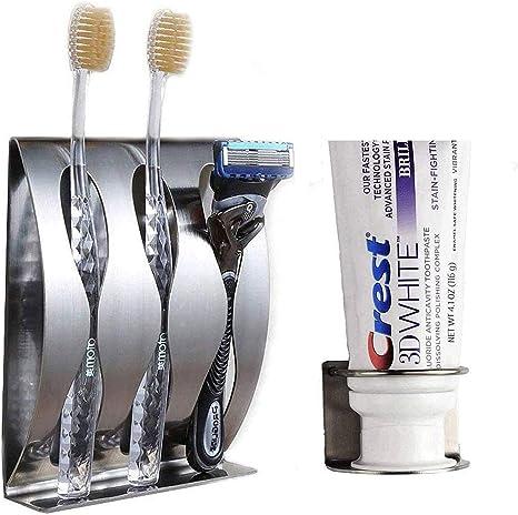 Wall Mounted Toothbrush Toothpaste Holder Storage Rack Organizer Self AdhesiveBE