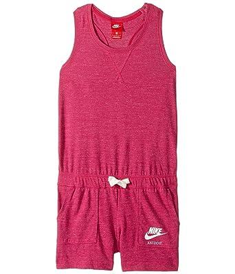 89d67723afbd Amazon.com  NIKE Kids Sportswear Vintage Romper Little Kids Big Kids Binary  Blue Sail Sail Girl s Jumpsuit Romper  Clothing