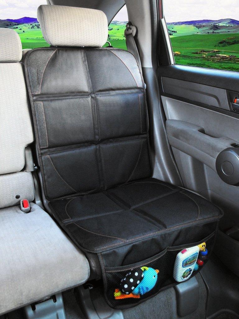Isofix Geeignet Skaize Kindersitzunterlage Auto-Sitzauflage Kindersitz Sitzschoner Schwarz