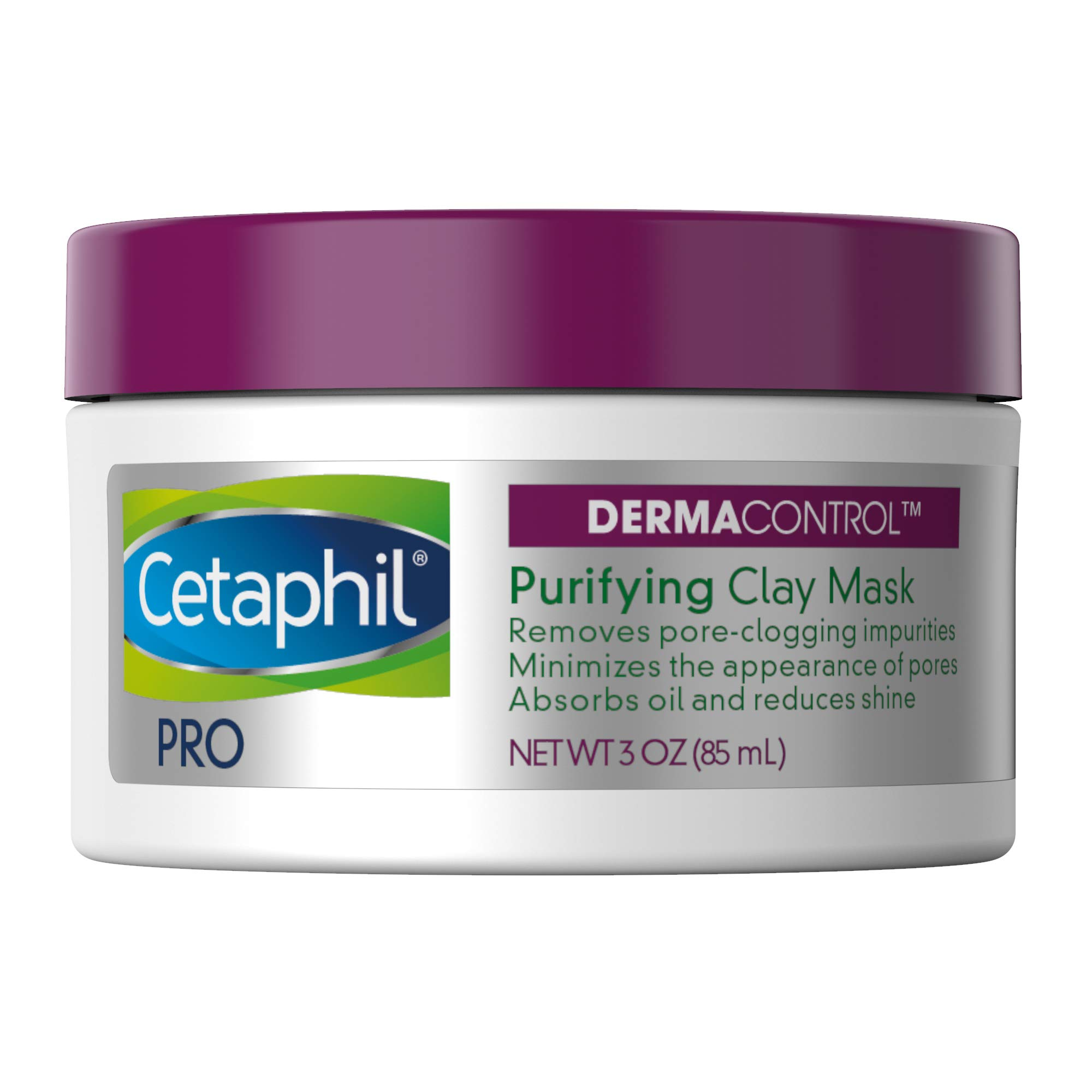 Cetaphil Pro Dermacontrol Purifying Clay Mask with Bentonite Clay for Oily, Sensitive Skin, 3 oz Jar by Cetaphil