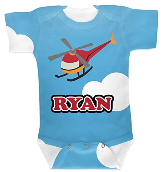 Amazon Com Rnk Shops Helicopter Baby Onesie Personalized Blue