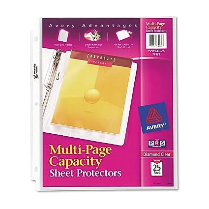 amazon com avery 74171 multi page top load sheet protectors heavy