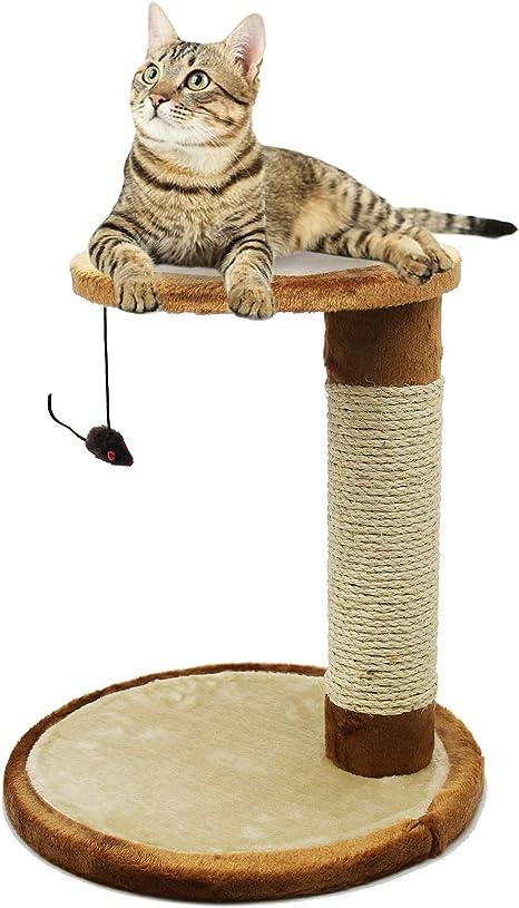 BPS Rascador Gato Juguete para Gatos con Juguete Ratón Materiales Rugoso Accesorio Ideal para Afile Las Uñas BPS-3159: Amazon.es: Productos para mascotas