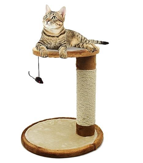 BPS Rascador Gato Juguete para Gatos con Juguete Ratón ...