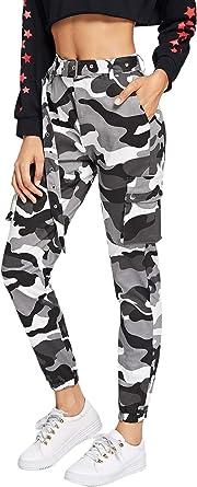 SOLY HUX Pantalones Casuales de Mujer Pantalones Sueltos de ...