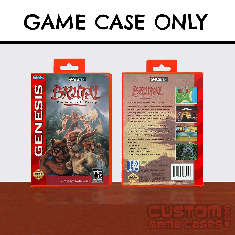 Amazon.com: Sega Genesis Brutal: Paws of Fury - Case: Handmade