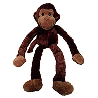 Large Hanging Hook and Loop Hand Stuffed Animal Plush Monkey by Adventure Planet: Toys & Games