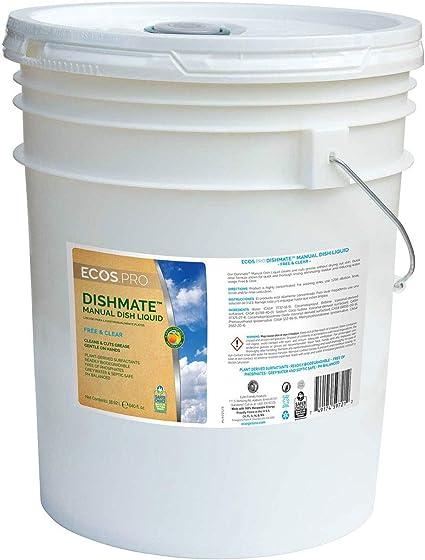 Amazon Com Dishmate Dishwashing Liquid Free Clear 5 Gallon