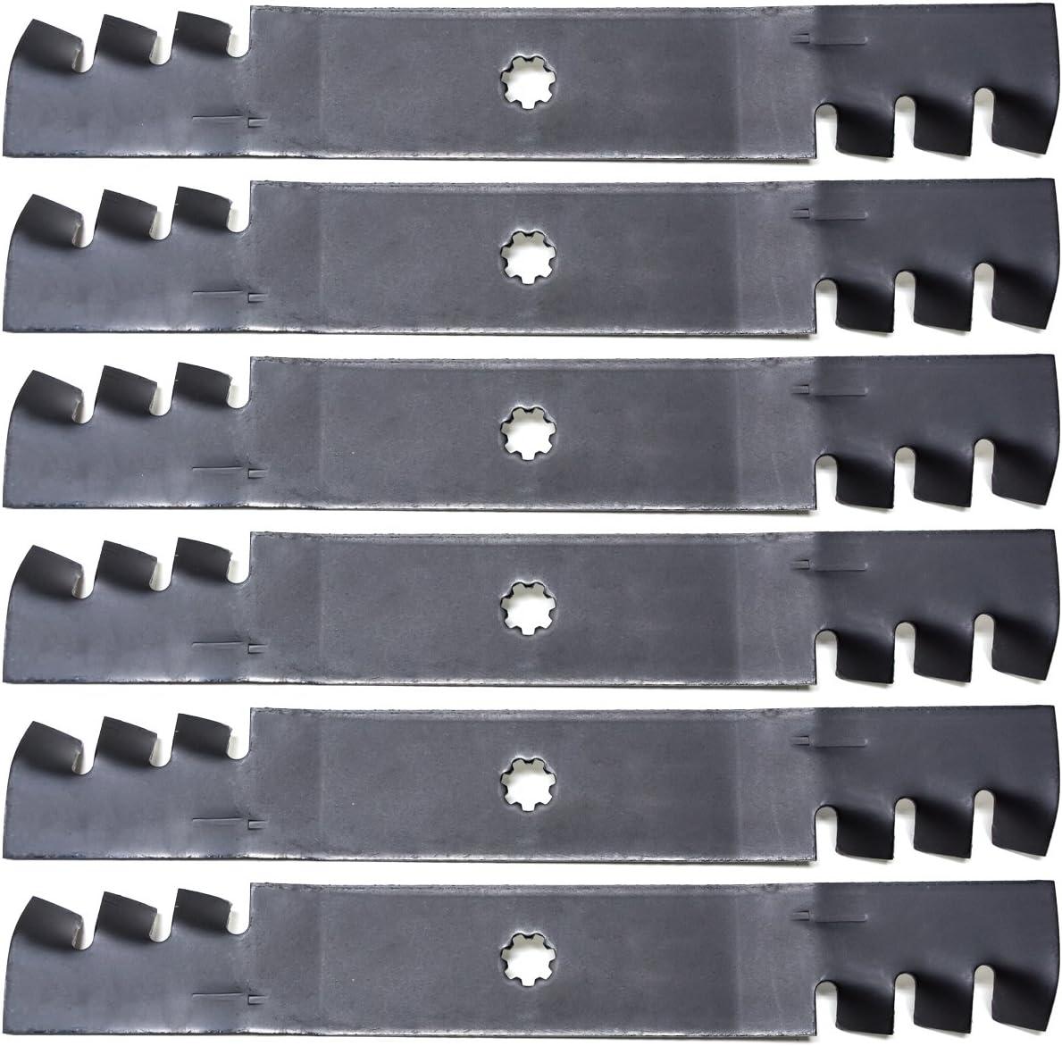 6PK Lawn Mower Blades John Deere GY20852 GX21784 LA140 LA145 LA165 D140 D150 160