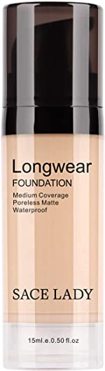 SACE LADY Matte Liquid Foundation, Long Wearing Flawless Foundation with Medium-Full