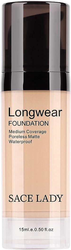 SACE LADY Matte Liquid Foundation, Long Wearing Flawless Foundation with Medium-Full Coverage, Poreless Face Makeup, 0.50Fl Oz/15ml, Fair