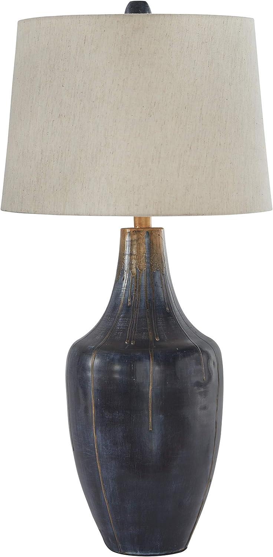 Signature Design by Ashley L207344 Evania Metal (1/CN) Table Lamp, Indigo