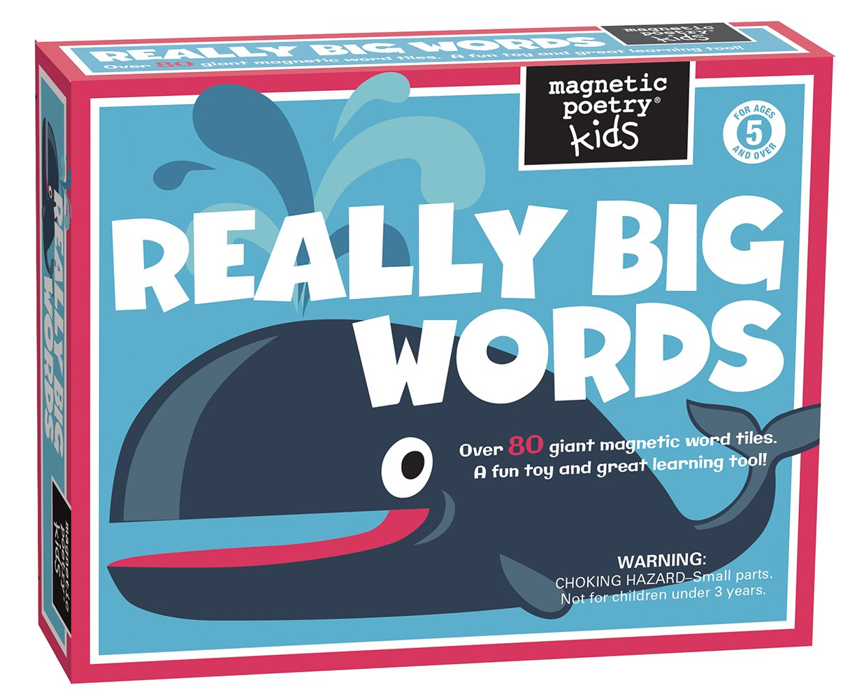 Magnetic Poetry - Kids Really Big Words Kit - Ages 5 and Up - Words for Refrigerator - Write Poems and Letters on the Fridge - Made in the USA