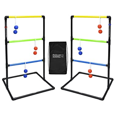 GoSports Indoor/Outdoor Ladder Toss Game Set with 6 Rubber Bolos, Carrying Case and Score Trackers