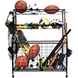 Kinghouse Garage Sports Equipment Organizer, Ball Storage Rack, Garage Ball Storage, Sports Gear Storage, Garage Organizer wi