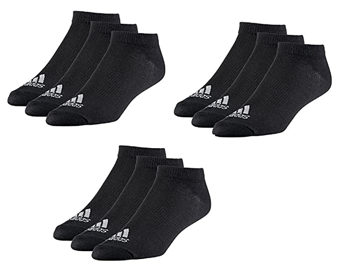 adidas Calcetines cortos para hombre negro 35 38: Amazon