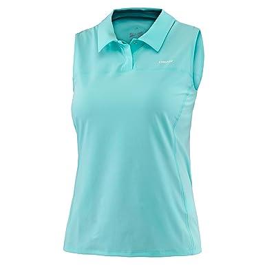 Head Performance Damen Poloshirt ärmellos, türkis  Amazon.de  Bekleidung a5df38a9b7