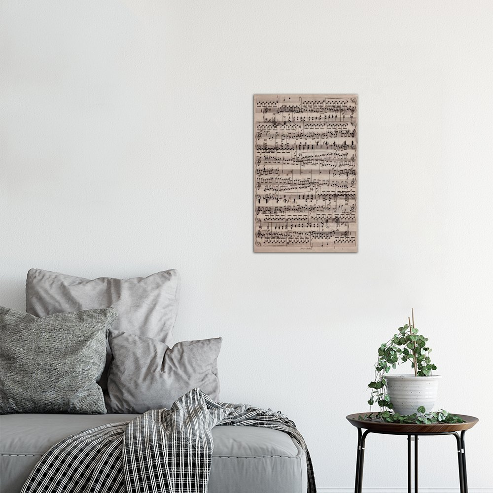 iCanvasART 1-Piece Modern Art-Sheet Music Ode to Joy Canvas Print by Fabrizio 12 x 8//0.75 Deep 12 x 8//0.75 Deep MA400-1PC3-12x8