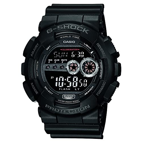 Casio Mens GD100-1BCR G-Shock X-Large Black Multi-Functional Digital