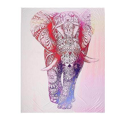 MagiDeal Tapiz de Patrón de Elefante de Impresión Estilo ...