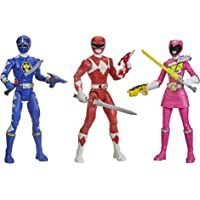 Power Rangers Beast Morphers Special Episode 3-Pack Action Figure Toys Dino Thunder Blue Ranger, Mighty Morphin Red…