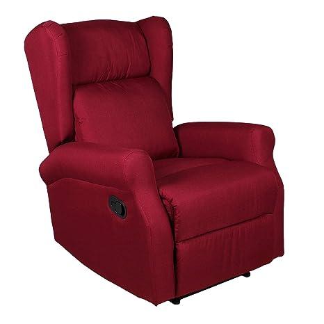 ws design Poltrona Relax Tessuto Moderno casa reclinabile Relax ...