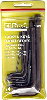 product image for EKLIND 10814 TORX star L-Key - 14pc set T6-T55 Short series