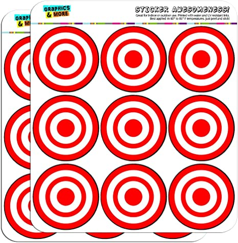 Hybsk Target Pasters 3 Inch Round Adhesive Shooting Targets Target Dots F...