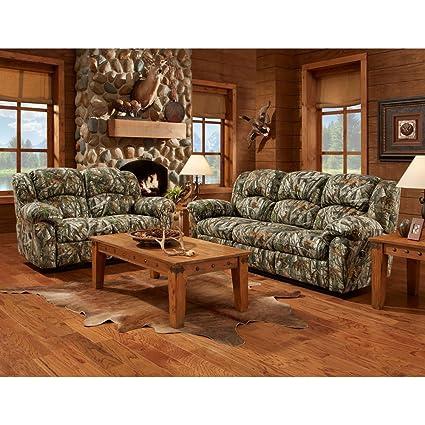 Cambridge Camo 3 Piece Set: Sofa, Loveseat, Recliner Living Room Furniture  Sets