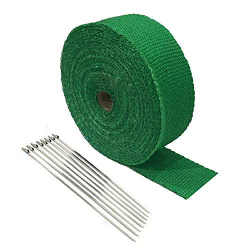 Auto Express Kawasaki Motorcycle Protection Header Exhaust Heat Wrap