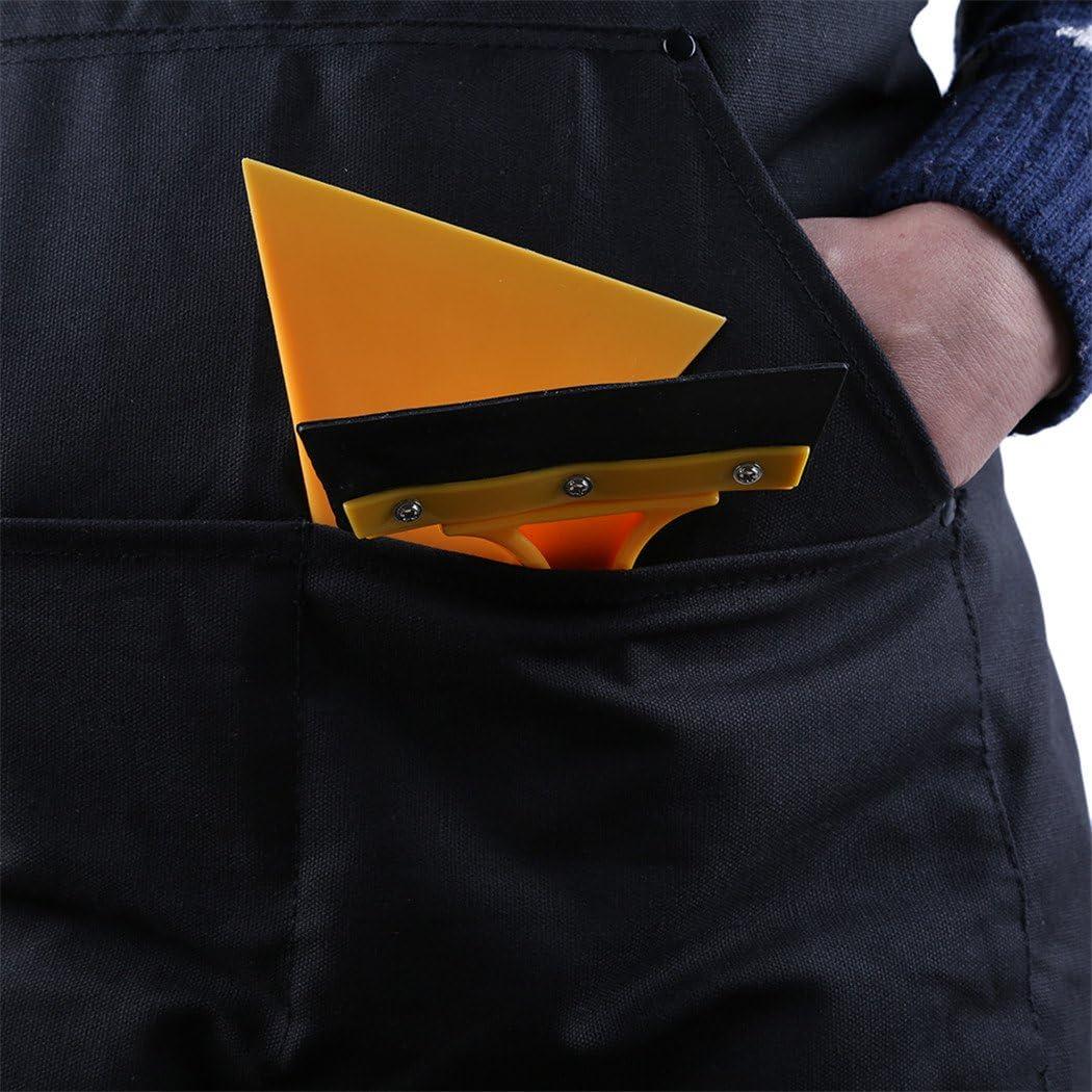 Myhouse Black Work Apron Carpenter Apron Canvas Apron With Pockets