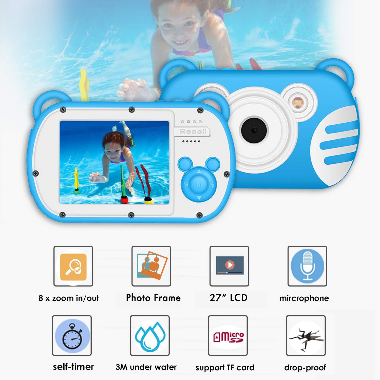 Kids Camera Waterproof Underwater Video Cameras for Snorkeling,Waterproof Underwater Digital Cameras for Kids--Holiday,Trip,Camping by Suntak (Image #4)