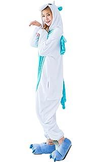 Unicornio Onesie Adulto - Feelme Unisex Onesies Pijamas Kigurumi Cosplay Traje de sastre Animal Mono