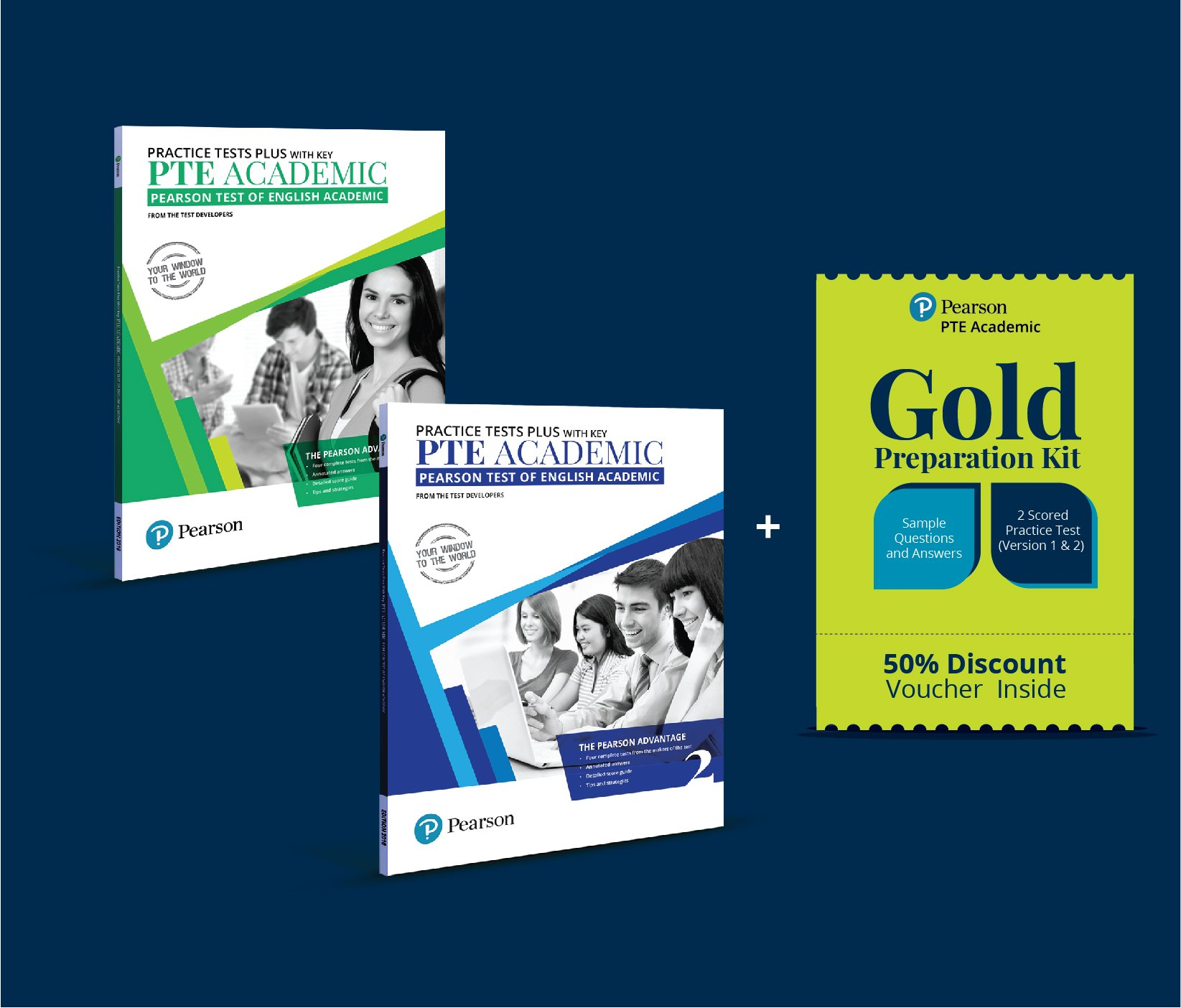 Buy PTE Academic Practice Test Vol  1 and 2 Combo with 50
