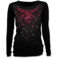 Spiral Direct Women's Blood Rose-Baggy Top Long Sleeve