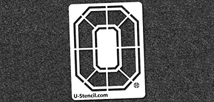 Amazon Com Ohio State Buckeyes Block O Stencil 11 X 14 5
