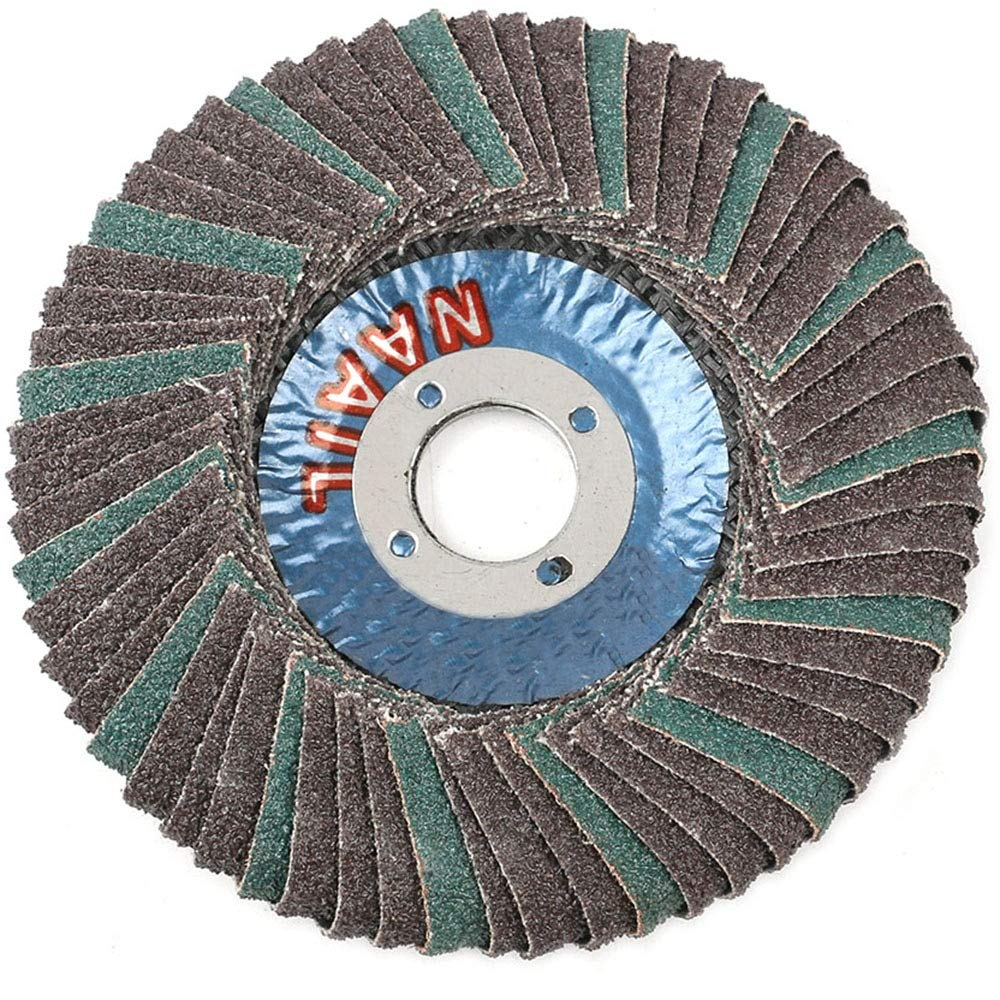 Maslin 10PCS Grit 80 Flap Discs 4''Grinding Wheels Angle Grinder Sanding Discs Abrasive Tool For Metal Wood Polishing - (Grit: 80)
