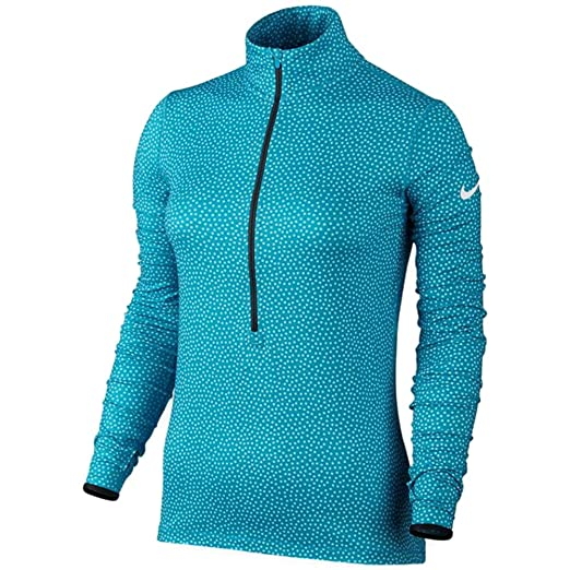 bf843492 Image Unavailable. Image not available for. Color: Nike Women's Pro Warm  Snow Half-Zip Training Top 684994 (Medium, Blue Lagoon