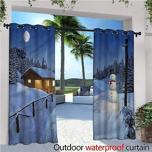 Cortinas Redondas de Navidad para Patio, Patio, Patio, Exterior: Amazon.es: Jardín
