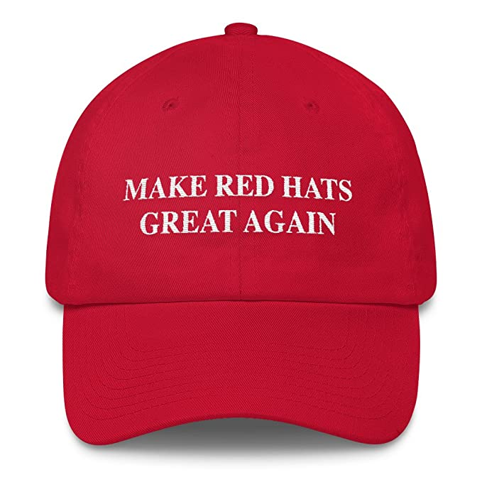 62aa771f1ee95 Make Red Hats Great Again Cap Parody Red Baseball Hat at Amazon Men s  Clothing store