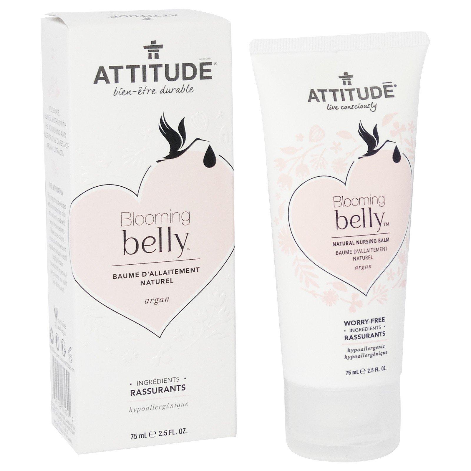 ATTITUDE - Blooming Belly - Argan Natural Nursing Balm - Dedicated to Future Moms - No Harmful Ingredients - Hypoallergenic - EWG and Ecologo Certificates - Vegan & Cruelty Free - 75 ml