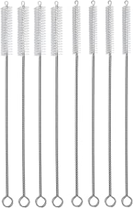 """Hiware Drinking Straw Brush Set, 4-Piece 7.6"""" x 8 mm Cleaner Brush for Stainless Steel Tumbler Straws and 4-Piece 7.6"""" x 10 mm Cleaning Brush for Smoothie Straws"""