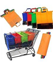 ecf68619d Juego de 4 bolsas de la compra de supermercado para carrito de la compra,  bolsas