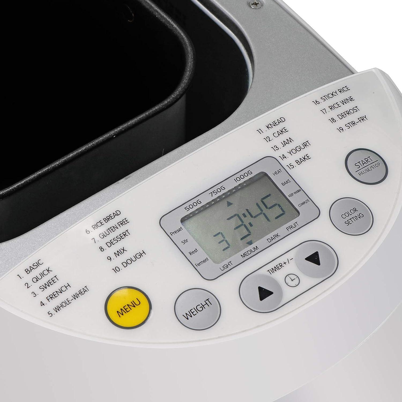 Amazon.com: Máquina de pan programable automática de 2LB con ...