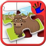 子供動物園動物のジグソー パズルの形 - 教育若い子供ゲーム幼児および前の学校の男の子と女の子 2 に適したスキル マッチングは教えている +