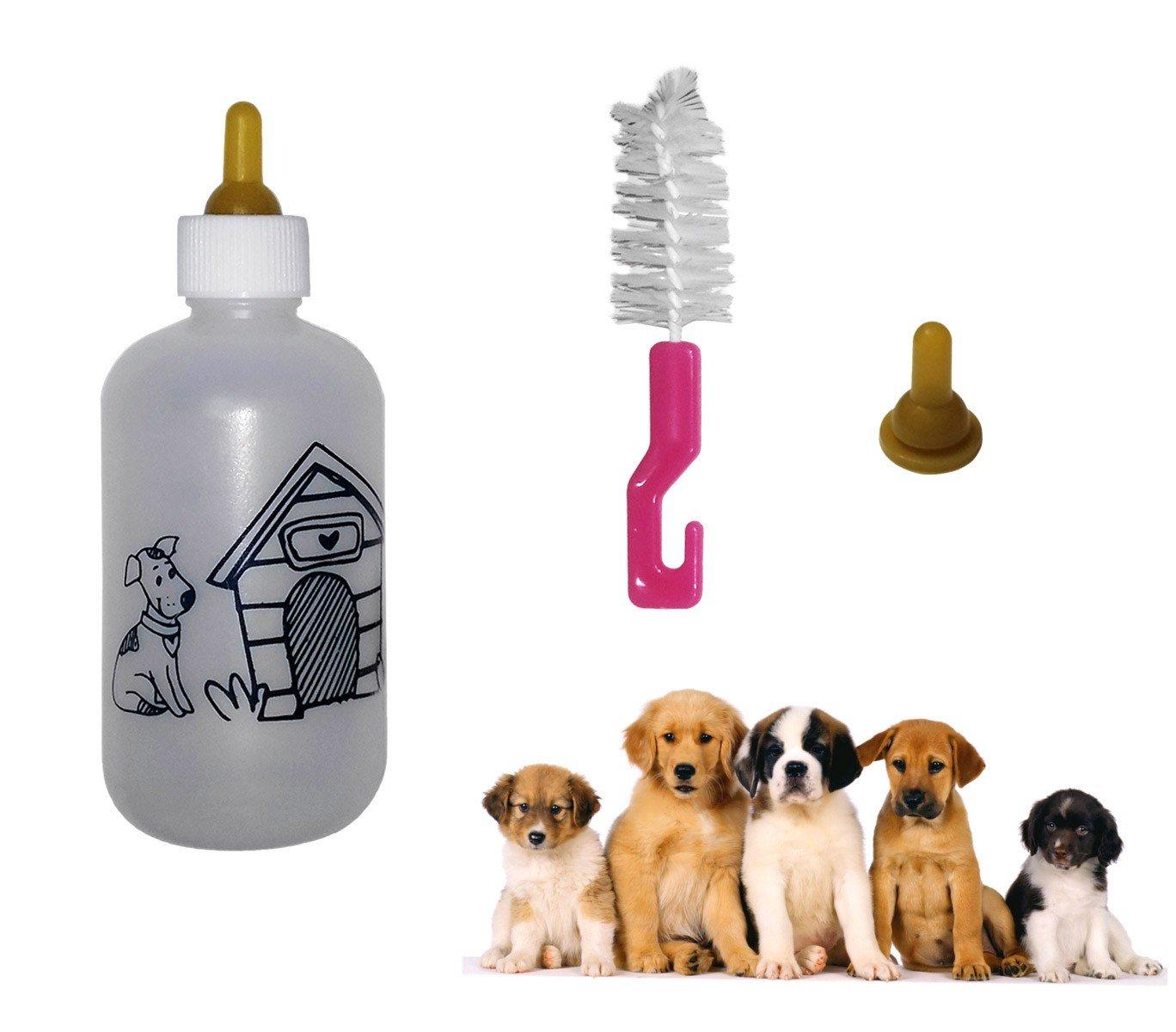 Biberón 120ml para cachorros y gatitos (incluye 2 tetinas + ...