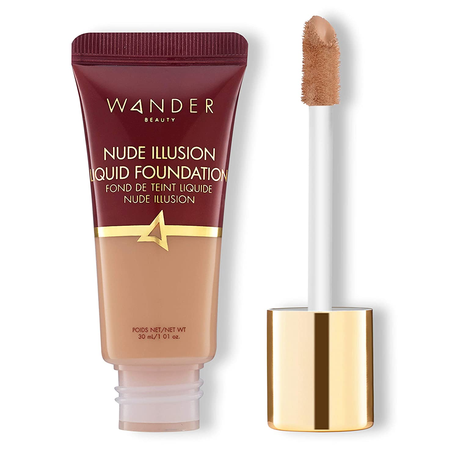 Wander Beauty Nude Illusion Liquid Foundation - Medium - Buildable natural, radiant finish. Targeted spot correcting and concealing, covers blemishes, redness and discoloration.
