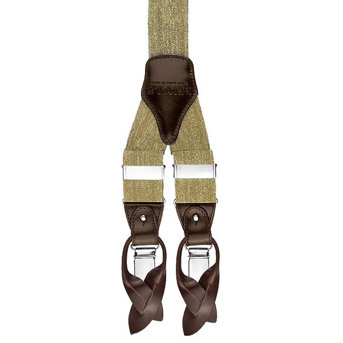 Stati Uniti sporchi online comprare nuovo prezzi di sdoganamento BRUCLE bretelle uomo jeans elastico e pelle doppio uso clip e ...