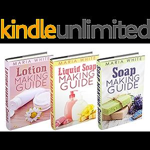 "(3 Book Bundle) ""Soap Making Guide"" & ""Liquid Soap Making Guide"" & ""Lotion Making Guide"""