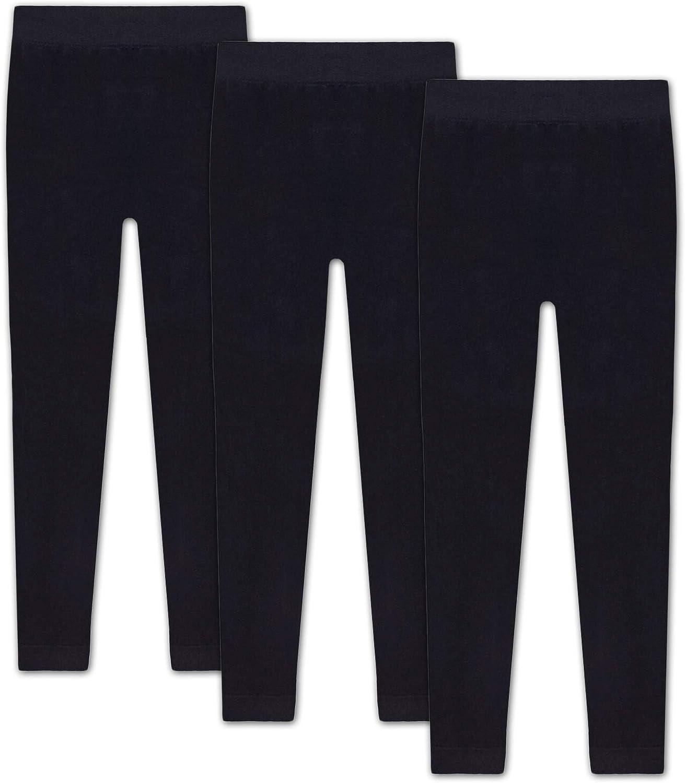 1-3 Pack HEATEX Kinder Thermo Leggings mit Fleece